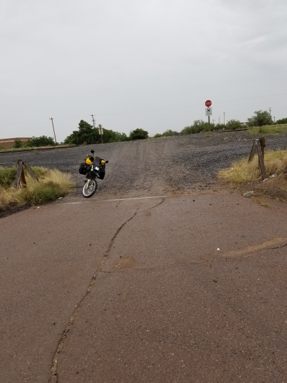 The start of the dirt. Adventure riding... life begins where the road ends