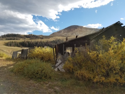 Ghost mining town at 11,500 feet